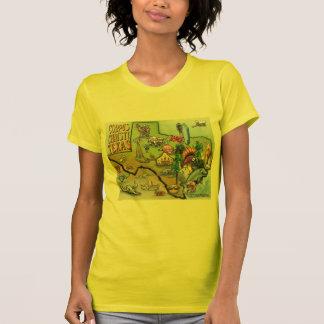 Mapa dos desenhos animados de Corpus Christi Tx T-shirt