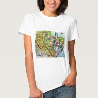 Mapa dos desenhos animados de Corpus Christi Tx Tshirt