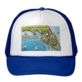 Mapa dos desenhos animados de Florida Bones