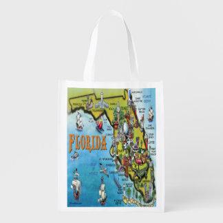 Mapa dos desenhos animados de Florida Sacolas Ecológicas