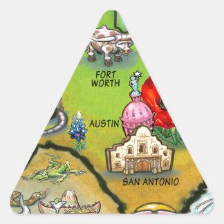 Mapa dos desenhos animados de Georgetown Texas Adesivo Em Forma De Triângulo