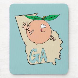 Mapa dos desenhos animados de Geórgia GA com o Mouse Pad