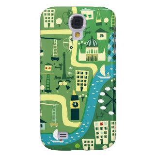 Mapa dos desenhos animados de Londres Galaxy S4 Cover