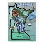 Mapa dos desenhos animados de Minnesota