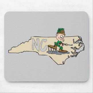 Mapa dos desenhos animados de North Carolina NC Mouse Pad