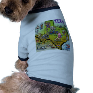 Mapa dos desenhos animados de TEXAS Roupa Para Pets