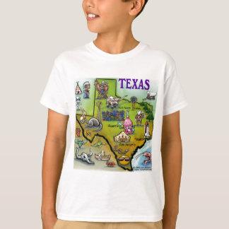 Mapa dos desenhos animados de TEXAS Camiseta