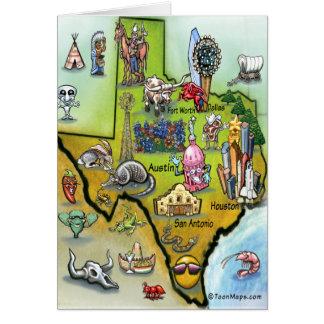 Mapa dos desenhos animados de Texas Cartao