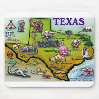 Mapa dos desenhos animados de TEXAS Mousepad