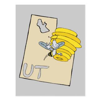Mapa dos desenhos animados de Utá UT com arte dos  Cartões Postais