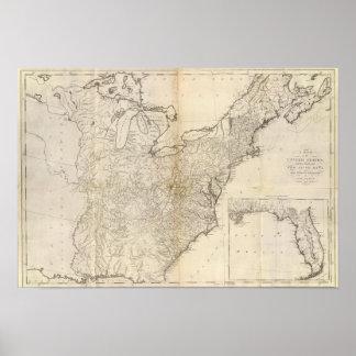 Mapa dos Estados Unidos 2 Pôster