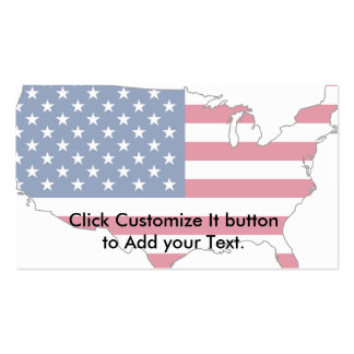 Mapa dos EUA, bandeira dos Estados Unidos Modelo Cartões De Visita