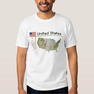 Mapa dos EUA + Bandeira + T-shirt do título