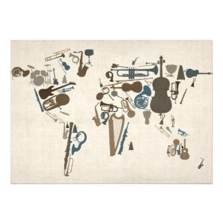 Mapa dos instrumentos musicais do mundo