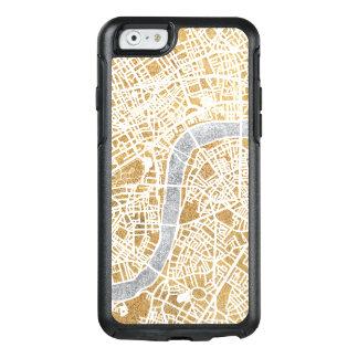 Mapa dourado da cidade de Londres