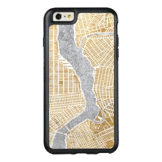 Mapa dourado da cidade de New York
