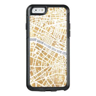 Mapa dourado da cidade de Paris