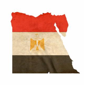 MAPA e BANDEIRA de EGIPTO Escultura De Foto