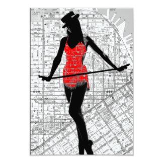 Mapa e dança convites personalizados