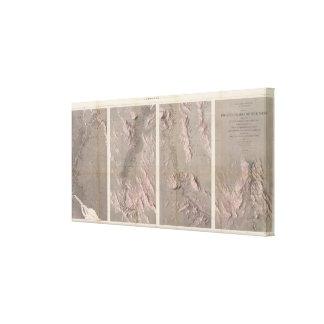 Mapa Geological Rio Colorado do oeste Impressão De Canvas Esticada