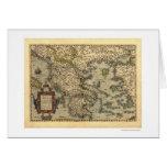 Mapa grego Ortelius 1570 das ilhas Cartão Comemorativo