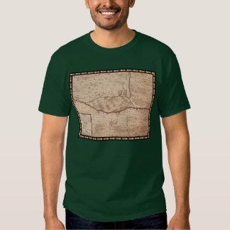Mapa histórico de Presidio de San Ignacio de Tubac T-shirt