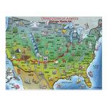 Mapa histórico dos desenhos animados da rota 66