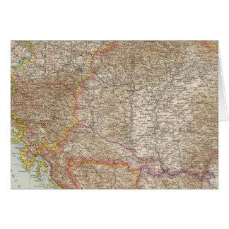 Mapa húngaro do império de Áustria Cartão Comemorativo