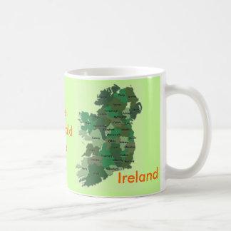 Mapa irlandês dos condados da caneca de Ireland