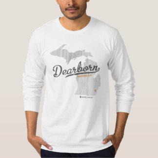 Mapa LS cabido retro de Dearborn Michigan Camiseta