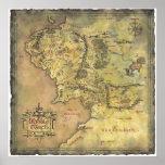 Mapa médio da terra impressão
