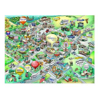 Mapa meridiano dos desenhos animados de Idaho Cartão Postal