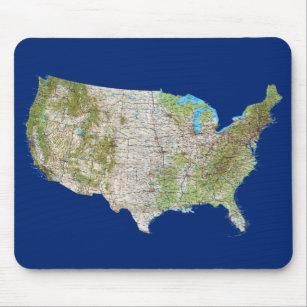 Mapa Mousepad dos EUA