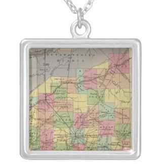 Mapa novo de Indiana Colar Banhado A Prata