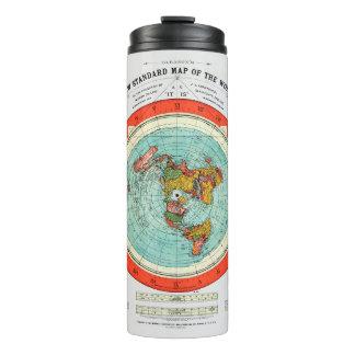 Mapa padrão novo da terra lisa Earther do mundo