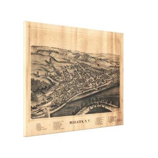 Mapa pictórico do vintage do Mohawk New York