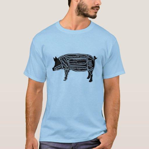 Mapa primordial do porco tshirts