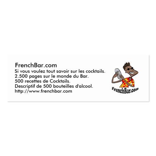 mapa promoção FrenchBar Cartões De Visita