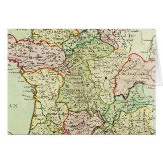 Mapa religioso de France Cartão Comemorativo