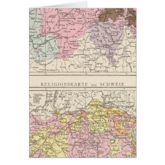 Mapa religioso e lingüístico da suiça cartoes