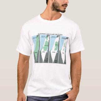 Mapa Shrinking de Palestina Camiseta