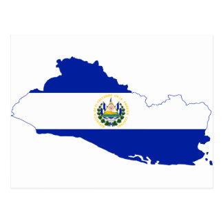 Mapa SV da bandeira de El Salvador Cartão Postal