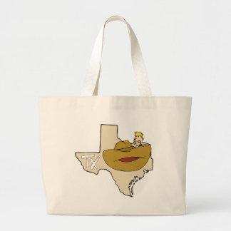 Mapa & vaqueiro de Texas TX com desenhos animados  Bolsas