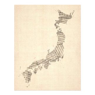 Mapa velho da partitura de Japão Flyer 21.59 X 27.94cm
