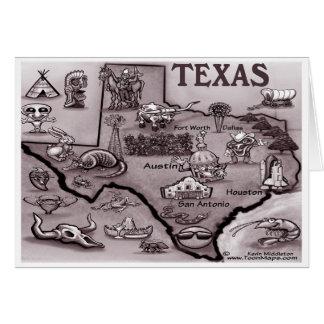 Mapa velho dos desenhos animados de Texas Cartoes