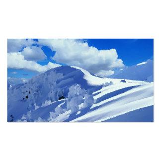 Mapas de visita pintura cimeira de montanha ennei cartão de visita