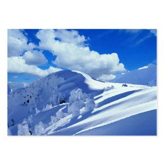 Mapas de visita pintura cimeira de montanha ennei cartão de visita grande
