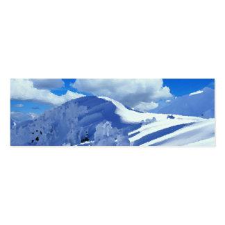 Mapas de visita pintura cimeira de montanha ennei cartão de visita skinny