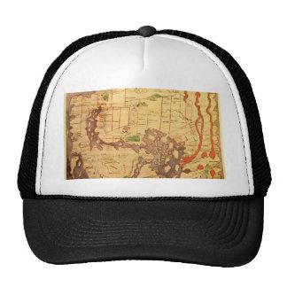 Mapas do mundo antigos boné