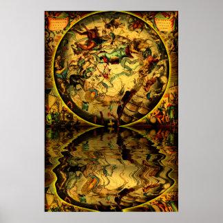 Maps-1-Reflection antigo Pôster